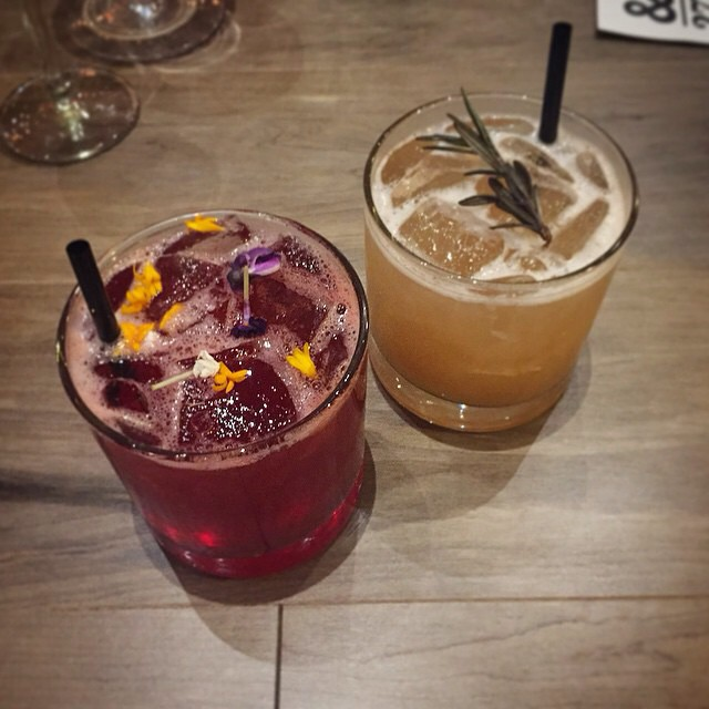Flora and Havana Nights drinks. Regram @ediblewomaneats #yegfood #drink #cocktail #yeg #ampersand27yeg #eatlocal #dinner