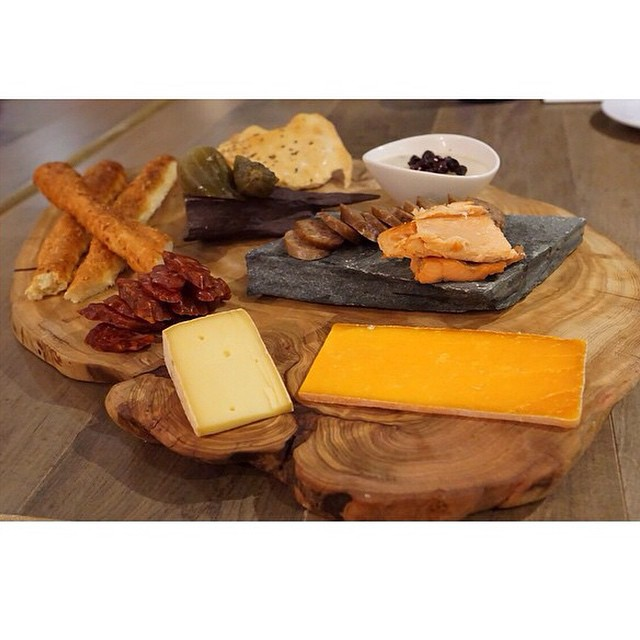 A sneak peek at our charcuterie board. Its about the ability to customize your dining experience. Why limit your choices when you can create your own combination when dining at &27. Photo by @letsomnom #ampersand27yeg #yegfood #yeg #exploreedmonton #food #foodies #charcuterie #instafood #foodporn #cheese #bread #salami #dinner