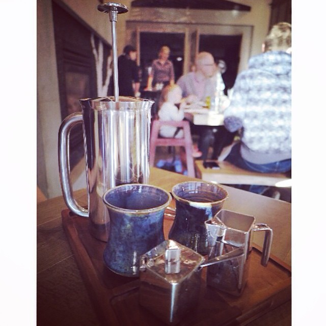 Our french press coffee. Try it next time you join us for brunch, lunch or dinner. Picture by @evonpig5418 #ampersand27yeg #ampersand27 #yeg #yegfood #yegcoffee #coffee #instacoffee #frenchpress #coffeemug #brunch #lunch #yegrestaurants #edmonton
