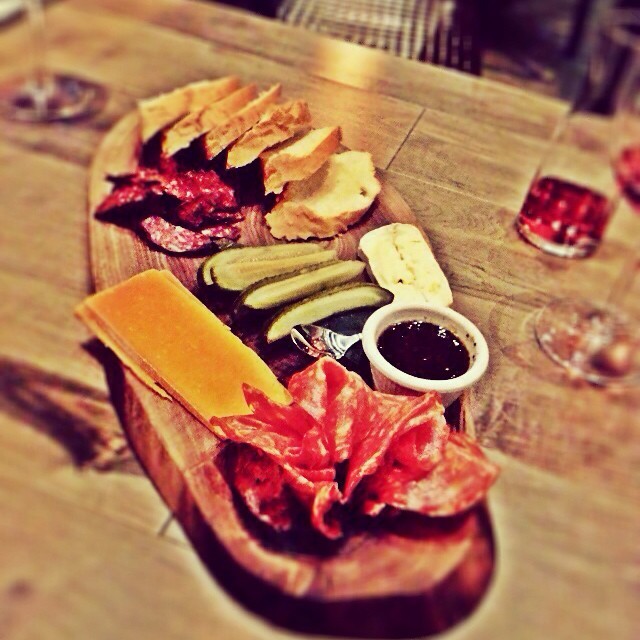 What do you do when you're kids free for the night? You go to @ampersand27yeg for some #wine and #charcuterie  #ampersand27 #&27 #yegeatz #yegfood #yumyum #foodie