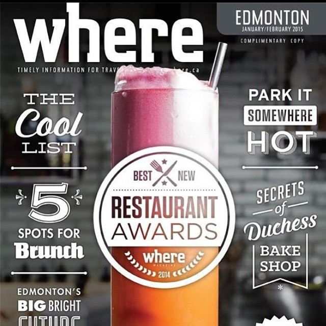 Hey #edmonton! We want to give a huge shout out to Where Edmonton for selecting us as #2 in the city for our amazing cocktails and our stellar cuisine. Our mixologist Janice Bochon and our chef Greg Myshynuik certainly deserve a pat on the back! We also want to congratulate our colleagues @rostizado_yeg & @north_53 as well! #ampersand27yeg #yegfood #yeg #food #foodies