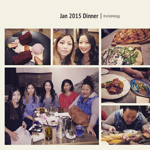 Jan 2015 dinner with my beautiful bffs #latepost #lastnight #bff #gifts #ampersand27 #dinners #monthlydinner