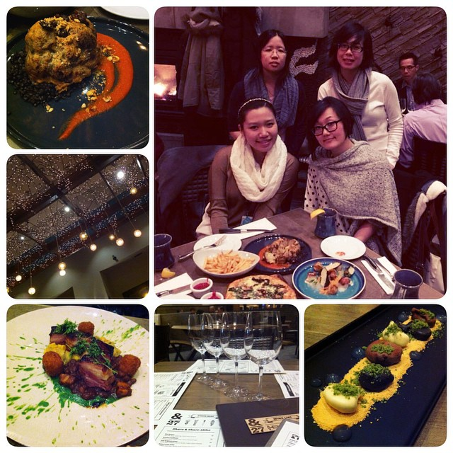 Met up with some of the old China Crew and reminisced about HZ Days at #Ampersand27. 10 Year Reunion? My favourite dish was the #RoastedCauliflower with GaramMasala, wowed by the #PorkBelly plating and ogled the #RockyRoad dessert. #&27 #yeg #happytimes with #friends #nocockroaches