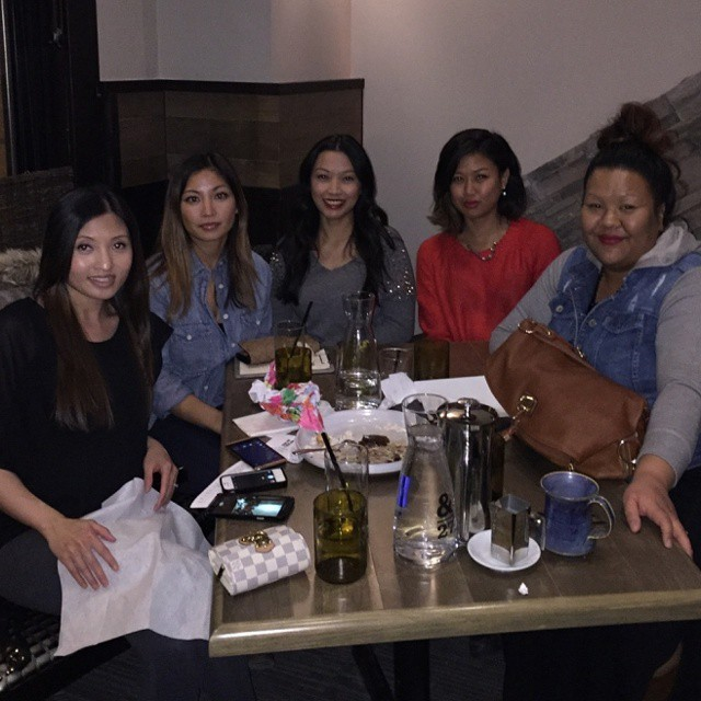 Monthly dinner + belated grinch's gifts #dinner #friends #ampersand27 #yegfood #yeg #bffs
