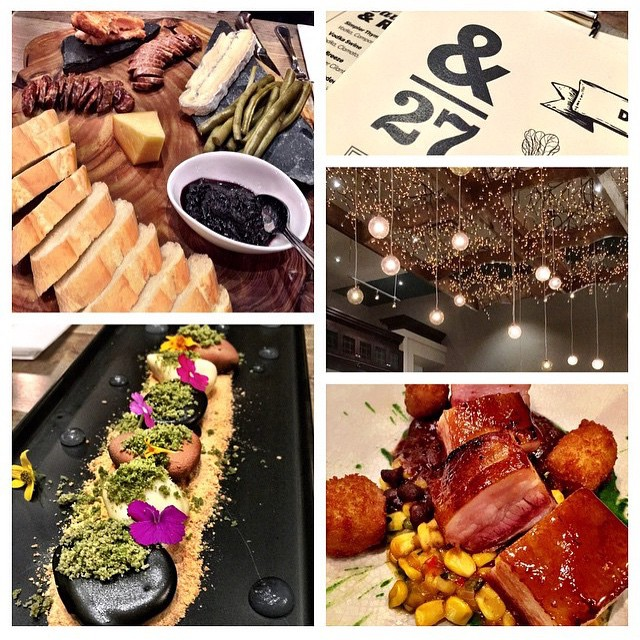 What a dinner experience looks like at &27. Photo collage by @azenone #ampersand27yeg #yegfood #ampersand27 #yegdrink #food #instafood #foodies #foorporn #pork #dessert #yeg #chocolate #yum #charcuterie #sweet #decor #delicious #dinner #lunch #edmonton #whyteave