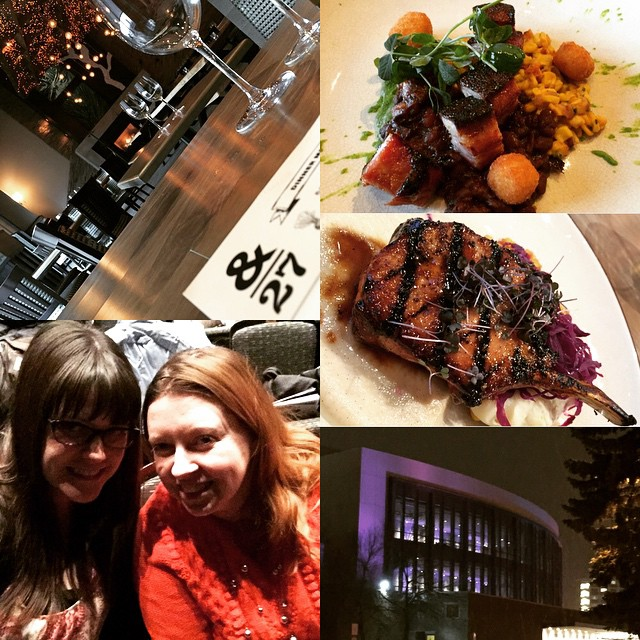 Great Friday night girls night with @chantillylace75 at Ampersand 27 and the Jubilee! Feeling all cultured like after the ballet! #ampersand27 #goodeats #yeg #yegfood #eatlocal #girlsnight #jubilee #northernalbertajubileeauditorium #ballet