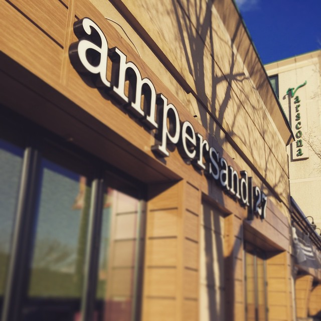 I'm ready for my Saturday night...are you? This sign is beckoning you to #ampersand27 @ampersand27yeg #foodie #yum