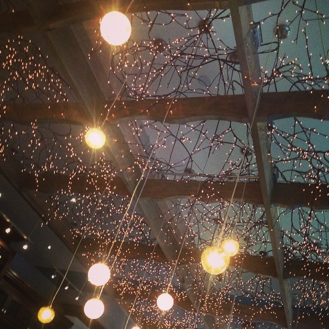 Our beautiful dinning room sky #yegfood #ampersand27 #craftedtobedifferent