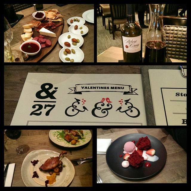 #yeg #ampersand27 #redwine #charcuterie #starter #duck #porkbelly #entree #redvelet #dessert