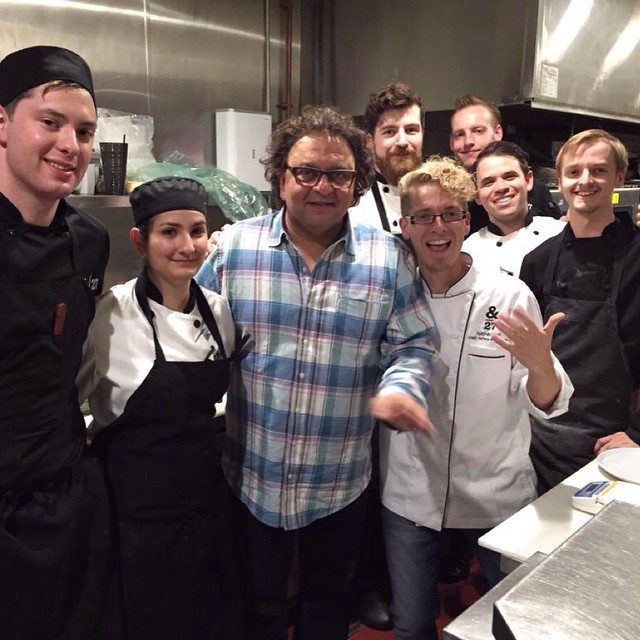 &|27 is about friends, family & food! Honoured to host Chef Vikram Vij @Vijs_restaurant #weheartvikram #NorthernLnds #yegfood #yeg #yvr #yegfood #foodie #foodporn #mindblown #ampersand27 #ampersand27yeg