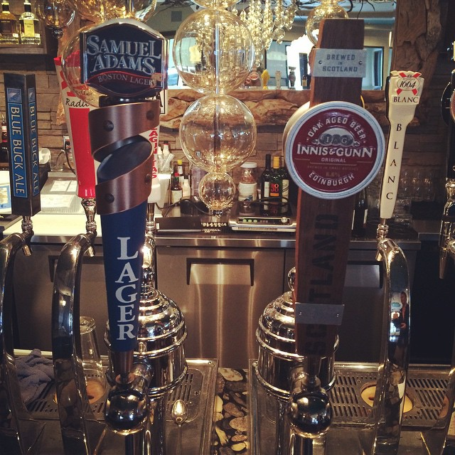 Two of our new taps: Innis & Gunn and Samuel Adams! Part of our Beer King Kevin's New Order. #yegfood #yegbeer #craftedtobedifferent