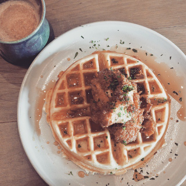 Chicken & waffles ♡♡♡ #ampersand27