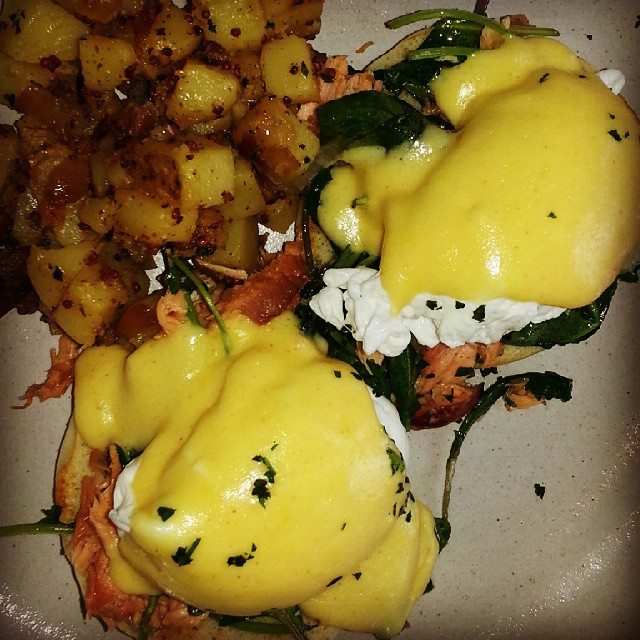#Easter #Saturday #brunch Salmon Eggs Benedict @ampersand27yeg #ampersand27 #whyteave #oldstrathcona Happy Easter everyone.